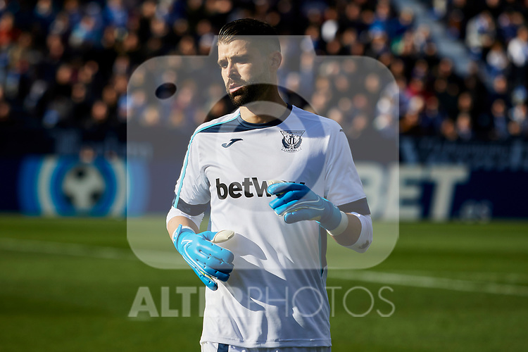 Ivan Cuellar of CD Leganes during La Liga match between CD Leganes and FC Barcelona at Butarque Stadium in Leganes, Spain. November 23, 2019. (ALTERPHOTOS/A. Perez Meca)