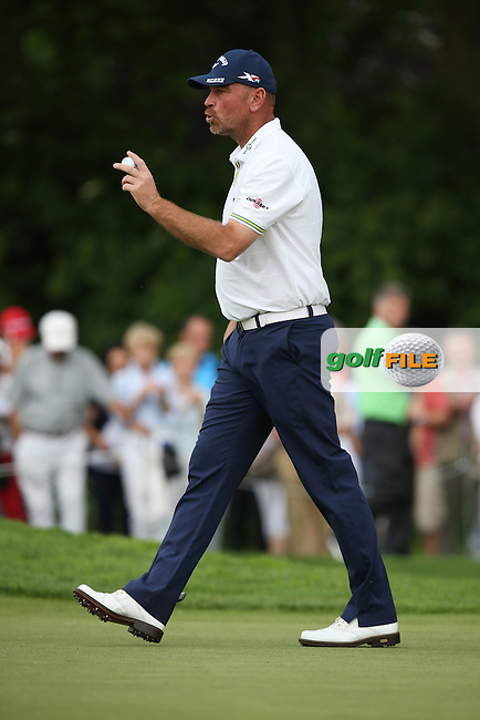 Thomas Bjorn (DEN) meaning business with a birdie on the 9th during Round One of the 2015 BMW International Open at Golfclub Munchen Eichenried, Eichenried, Munich, Germany. 25/06/2015. Picture David Lloyd | www.golffile.ie