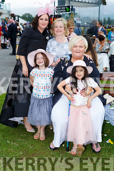 Orla Campbell, Aileen Healy, Maria Keane, Isla and Erin Campbell Tralee at  Killarney Races on Saturday