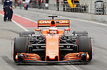 Stoffel Vandoorne (BEL) McLaren MCL32 with aero sensors at Formula One Testing, Day 2, Circuit Barcelona Catalunya