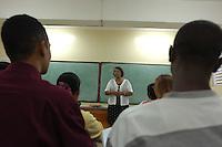 Estudiantes de nacionalidad haitiana cursan la carrera de emfermeria en la Univercidad Catolica Santo Domingo, muestra la Presencia Haitiana en la Republica Dominicana..Lugar:Santo Domingo, RD.Foto:Cesar de la Cruz.Fecha:.