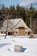 Kancamagus Scenic Byway - The Russell-Colbath Historic Homestead which was part of the Passaconaway Settlement in Albany, New Hampshire USA. This area was the center of operations for the Swift River Railroad, which was an logging railroad in operation from 1906 - 1916.