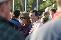 24th September, 2006. European Ryder Cup Team vice captain Des Smyth and wife Vickey afterthe closing ceremony of  the ryder cup after beating the American Team in the final day of the  Ryder Cup at the K Club in Straffan, County Kildare in the Republic of Ireland..Photo: Fran Caffrey/ Newsfile..