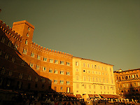 The Piazza del Campo (photographed through sunglasses), Siena.