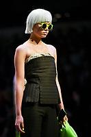 7 September 2017, Melbourne - Model parades design by RMIT student Lucinda Houghton during the Melbourne Fashion Week in Melbourne, Australia. (Photo Sydney Low / asteriskimages.com)