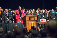 Rev. Susan Young. Incoming first-years start the year at Occidental College's 127th annual Convocation ceremony on Aug. 28, 2013 in Thorne Hall.<br /> (Photo by Marc Campos, Occidental College Photographer)
