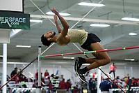 WINSTON-SALEM, NC - FEBRUARY 07: Tony Jones of Wake Forest University clears the bar in the Men's High Jump at JDL Fast Track on February 07, 2020 in Winston-Salem, North Carolina.