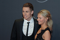 20170208 – LINT ,  BELGIUM : Thorgan Hazard (L) pictured during the  63nd men edition of the Golden Shoe award ceremony and 1st Women's edition, Wednesday 8 February 2017, in Lint AED studio. The Golden Shoe (Gouden Schoen / Soulier d'Or) is an award for the best soccer player of the Belgian Jupiler Pro League championship during the year 2016. The female edition is a first in Belgium.  PHOTO DIRK VUYLSTEKE   Sportpix.be