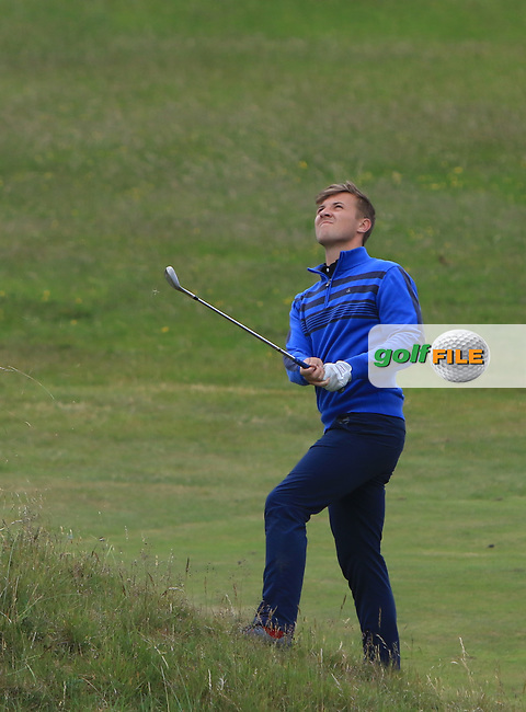 Robbie Pierse (Grange) on the 16th during Round 4 of the East of Ireland Amateur Open Championship at Co. Louth Golf Club in Baltray on Monday 5th June 2017.<br /> Photo: Golffile / Thos Caffrey.<br /> <br /> All photo usage must carry mandatory copyright credit     (&copy; Golffile | Thos Caffrey)