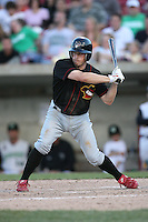May 25, 2008: Quad Cities River Bandits Mike Folli (4) at bat against the Kane County Cougars at Elfstrom Stadium in Geneva, IL. Photo by: Chris Proctor/Four Seam Images