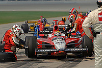 11 September, 2005, Joliet,IL,USA<br /> Dan Wheldon makes a pit stop.<br /> Copyright&copy;F.Peirce Williams 2005