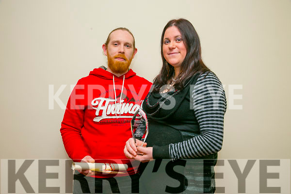 The annual Enterprise Month was officially launched on Monday with the Kerry Local Enterprise Office County Enterprise Awards at the Manor West Hotel. Pictured are the Finalist Jessica Clinton and Michael Lenihan, Ballyhar Foods