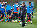 20.04.2018 Rangers training: Graeme Murty