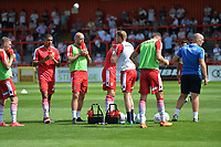 stevenage Players arrive during Stevenage vs Tranmere Rovers, Sky Bet EFL League 2 Football at the Lamex Stadium on 4th August 2018