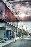 BELIZE. Belize City, street scene in the South Side of Belize City