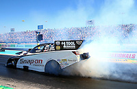 Sept. 22, 2013; Ennis, TX, USA: NHRA funny car driver Cruz Pedregon during the Fall Nationals at the Texas Motorplex. Mandatory Credit: Mark J. Rebilas-