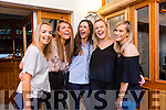 Caroline Brick, Kilmoyley celebrates her engagement to John Redman with friends from Dublin at Bella Bia's on Friday Pictured  Ann Fitzgerald, Roisin Lee, Caroline Brick, Ciara McGee and Sarah Murray