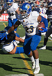 San Jose State running back Tyler Nevens (23) runs for a touchdown against Nevada in the first half of an NCAA college football game in Reno, Nev. Saturday, Nov. 11, 2017. (AP Photo/Tom R. Smedes)