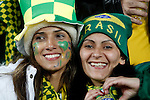 15 JUN 2010: Brazil fans in the stands, pregame. The Brazil National Team played the North Korea National Team at Ellis Park Stadium in Johannesburg, South Africa in a 2010 FIFA World Cup Group G match.