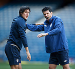 Early training sessions catching up with Fran Sandaza and Emilson Cribari this morning at Ibrox