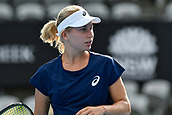 9th January 2018, Sydney Olympic Park Tennis Centre, Sydney, Australia; Sydney International Tennis, round 1; Daria Gavrilova (AUS) in her match against Olivia Rogowska (AUS)