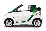 Car Driver side profile view of a 2013 Smart FOR TWO Electric Drive 2 Door Convertible Side View