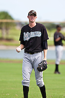 Jared Rogers of the Gulf Coast League Marlins during the game at the Washington Nationals Training Complex in Viera, Florida August 28 2010. Photo By Scott Jontes/Four Seam Images