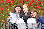 High achieving Junior Cert students from Presentation Tralee who Gemma Godley, Fenit 9 A's , 3 B's Claire Crowley Ardfert 12 A's and Rachel Buckley 9 A's , 3 B's..