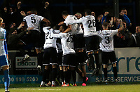 Dover players celebrate Michael Woods (hidden) winner during Dover Athletic vs Barrow, Vanarama National League Football at the Crabble Athletic Ground on 4th February 2020