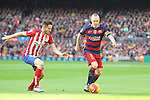 30.01.2016 Camp Nou, Barcelona, Spain. La Liga day 22 match between FC Barcelona and Atletico de Madrid. Andres Iniesta with the ball