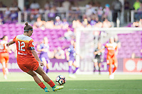 Orlando, FL - Saturday June 24, 2017: Amber Brooks during a regular season National Women's Soccer League (NWSL) match between the Orlando Pride and the Houston Dash at Orlando City Stadium.