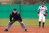 16 October 2010: Umpire Fabien Carette-Legrand is seen during Rouen 16-4 win over Savigny, during game 1 of the French championship finals, in Savigny sur Orge, France.