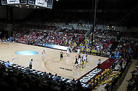 STANFORD, CA - March 26, 2013: Stanford Cardinal versus Michigan in a second round game of the 2013 NCAA Division I Championship at Maples Pavilion in Stanford, California.  The Cardinal defeated the Wolverines 73-40.
