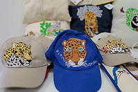 venta de gorras , amoadas y artesnias de textil on imagenes de Jaguar , durante el primer dia de actividades y festejos de día del Jaguar en Alamos, Sonora 4oct2019 por Naturaleza y Cultura Internacional Mexico (NC). <br /> (© Foto:Luis Gutierrez NortePhoto.com)