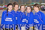 Pictured are Listowel Youth Club indoor soccer team on Sunday were l-r: Maimie O'Flynn, Sarah O'Brien, Doireann Trant, Sarah Moloney and Janna Finucane..