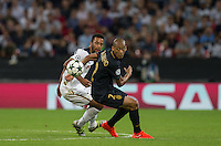 Fabinho of Monaco turns Mousa Dembele of Tottenham Hotspur during the UEFA Champions League Group stage match between Tottenham Hotspur and Monaco at White Hart Lane, London, England on 14 September 2016. Photo by Andy Rowland.
