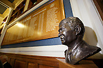 Sandy Jardine looking out over the marble staircase at Ibrox