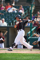 Rochester Red Wings designated hitter Byung Ho Park (7) at bat during a game against the Norfolk Tides on July 17, 2016 at Frontier Field in Rochester, New York.  Rochester defeated Norfolk 3-2.  (Mike Janes/Four Seam Images)