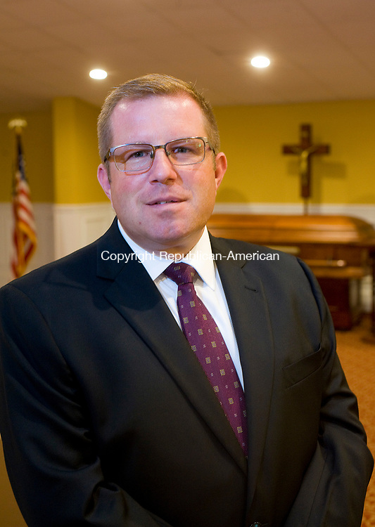 WATERBURY, CT-0731117JS02--  Daniel Ford, President/Owner of Alderson Ford Funeral Home, inc, inside their new Waterbury location in the former Carmen Anthony restaurant on Chase Avenue in Waterbury. <br />  Jim Shannon Republican-American