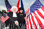 Former Presidents George Washington (Jerry Cronin) and Abraham Lincoln (Colm Foley) celebrated the 4th July at the USA Independence parade in Killarney on Monday evening