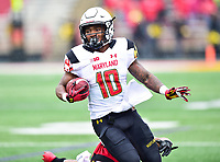 College Park, MD - APR 22, 2016: Maryland Terrapins wide receiver DJ Turner (10) in action during the 2017 Spring game at Capital One Field at Maryland Stadium in College Park, MD. (Photo by Phil Peters/Media Images International)