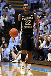 24 January 2015: Florida State's Xavier Rathan-Mayes (CAN). The University of North Carolina Tar Heels played the Florida State University Seminoles in an NCAA Division I Men's basketball game at the Dean E. Smith Center in Chapel Hill, North Carolina. UNC won the game 78-74.