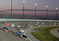 Nov. 15, 2008; Homestead, FL, USA; NASCAR Nationwide Series driver Bobby Hamilton Jr (25) leads a pack of drivers during the Ford 300 at Homestead Miami Speedway. Mandatory Credit: Mark J. Rebilas-