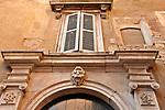 Medieval architecture of Citta Alta Bergamo, Italy