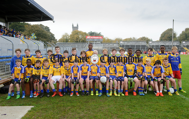 Ennis CBS Boys at the Cumann na mBunscoil Finals at Cusack Park. Photograph by John Kelly.