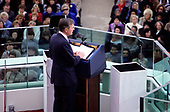United States President George H.W. Bush delivers his Inaugural Address after being sworn-in as 41st President of the United States at the US Capitol on January 20, 1989. <br /> Credit: Howard L.  Sachs / CNP