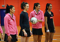 30.10.2014 Silver Ferns in action during training ahead of the second test match in Palmerston North. Mandatory Photo Credit ©Michael Bradley.