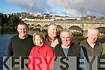 BRIDGE: Killorglin residents who are extremely worried about further subsidence of the Laune Bridge in the town, l-r: Donie O'Sullivan, Breda Falvey, Cllr John O'Connor, Con Griffin, Edso Crowley.