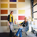 Janie Young and Virginia Lowe, owners of YOLO Colorhouse, an environmentally friendly paint company in Portland, Oregon
