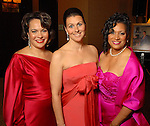 Honorees Rosi Hernendez, Donatella Benckenstein and Cheryl Moore McNair at the Winter Ball held at the Hilton Americas Houston Saturday Jan. 10, 2009.(Dave Rossman/For the Chronicle)